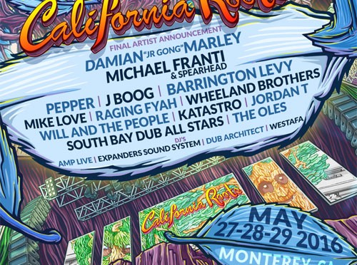 The 7th annual California Roots Music and Arts Festival Announces Third and Final Round of Artists