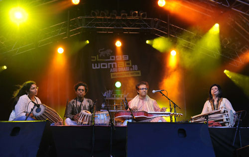 Debashish Bhattacharya at WOMAD Abu Dhabi 2010