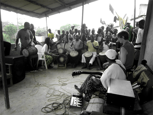 Dembele home and music center in Abobo before the demolition