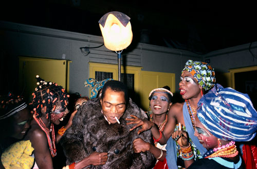 Fela Kuti - Photo by Bernard Matussiere