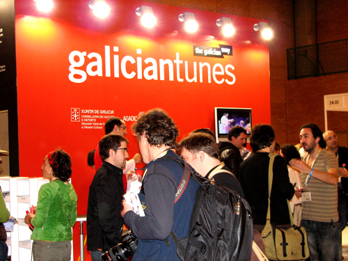 Galician booth at WOMEX 2008 by Angel Romero