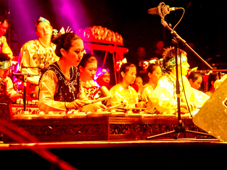Opening ceremony, Malaysian gamelan performance by the Tengku Abdul Rahman School - Photo by Leong Kean Hong, courtesy of Penang World Music Festival