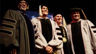 Harry Belafonte, celebrated musician, songwriter, and activist, was presented with a Berklee honorary doctor of music degree by the college's president Roger H. Brown last night at a concert in […]