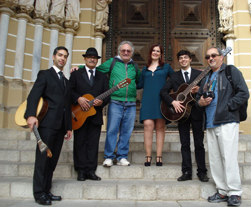 "On May 7th, my colleague Albert Reguant (Director of ""Les Rutes del So"" Ona Sants Montjuïc de Barcelona and member of the World Music Charts Europe) and I encountered fado singer Jaqueline and her band at the cathedral."
