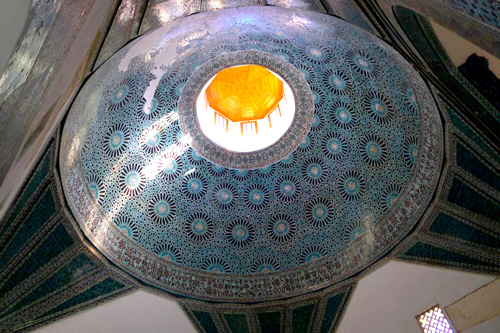 Karatay Madrasa Dome Ceiling — Photo by Evangeline Kim