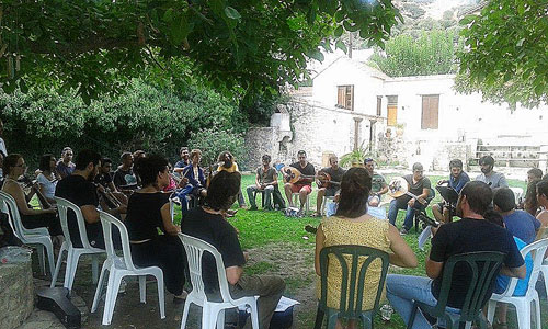 session at Musical Workshop Labyrinth in Crete