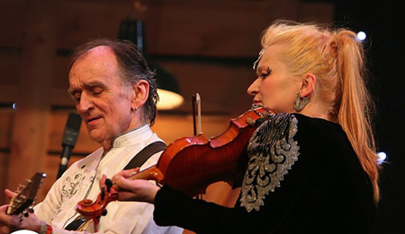 Martin & Eliza Carthy at BBC Folk Music Awards 2014, Albert Hall