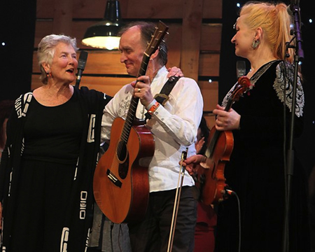 Martin & Eliza Carthy With Peggy Seeger at Folk Awards 2014, Albert Hall