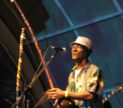 Berimbau master Mestre  Lourimbau at a showcase in Salvador da Bahia - Photo by Angel Romero