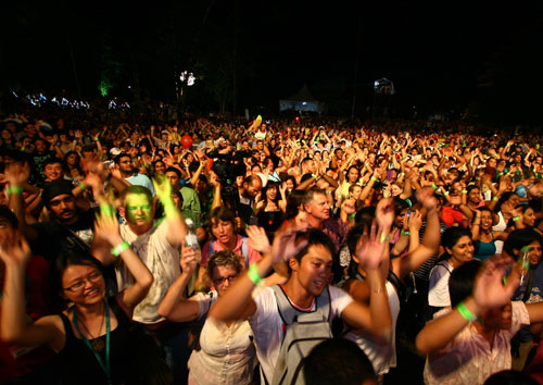 Festivalgoers at a previous edition of the Rainforest World Music Festival