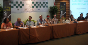 Press conference at Rainforest World Music Festival 2013