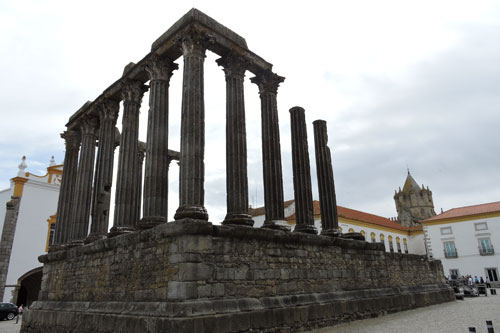 The ancient Evora Roman Temple - Photo by Angel Romero