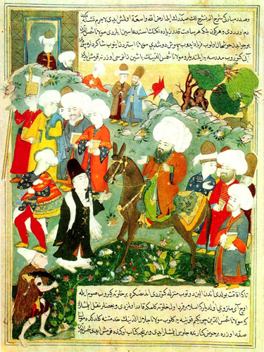 Ottoman Era Manuscript, Rumi Meeting Shams of Tabriz