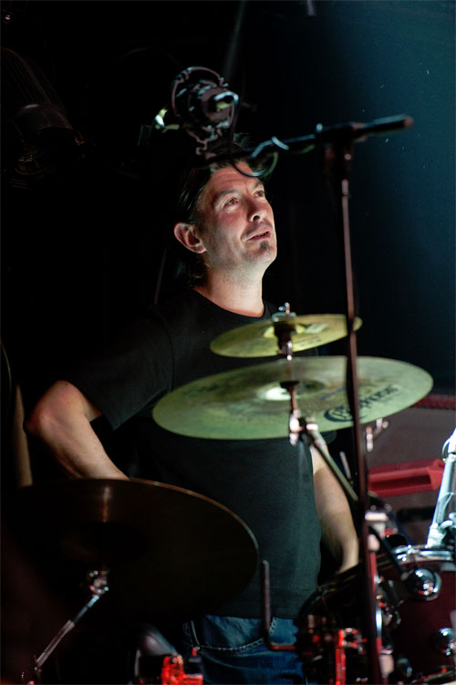 Drummer James Mackintosh (Shooglenifty)
