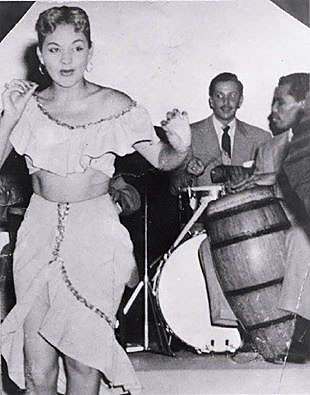 Tommy Lopez Sr. on congas. Chucky's mother was the dancer.