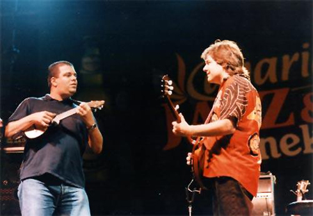 José Antonio Ramos jamming with Bela Fleck