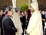 Khalife with King Mohammed of Morocco in the city of Fez