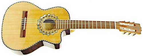 Mexican requinto guitar