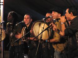 Plena Libre at Shakori Hills 2008. Photo by Angel Romero