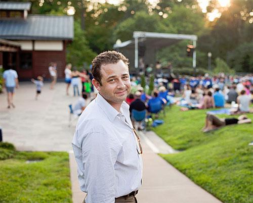 Aaron Greenwald, Executive Director of Duke Performances at the Sarah Duke Gardens venue