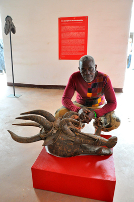 Amahigeure Dolo with Ritual Mask – Collection National Museum of Mali - Photo by Evangeline Kim