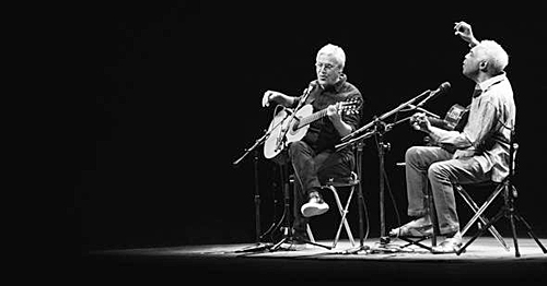 Caetano Veloso and Gilberto Gil -  Photo by Marcos Hermes