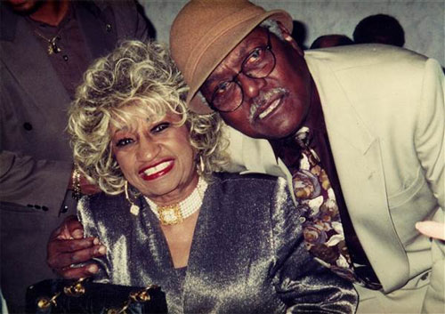 "Alfredo ""Chocolate"" Armenteros Sr. with the ""queen"" of salsa Celia Cruz - Photo courtesy of Alfredo Armenteros Jr."