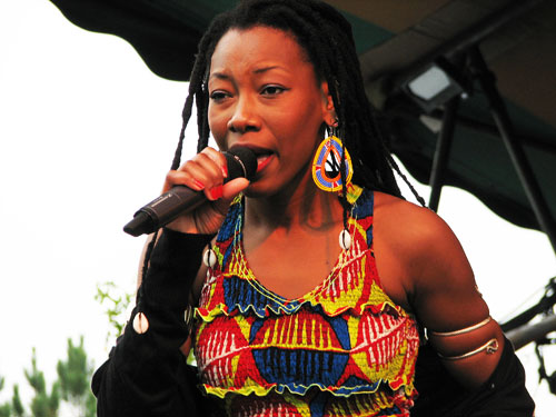 Fatoumata Diawara at Shakori Hills - Photo by Angel Romero