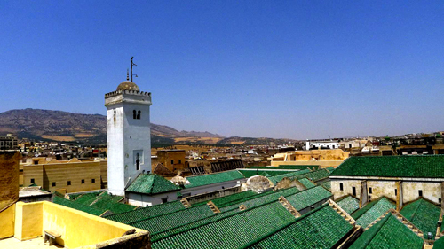 Fez Karaouine Mosque and University (rooftop partial view) - Photo by Evangeline Kim