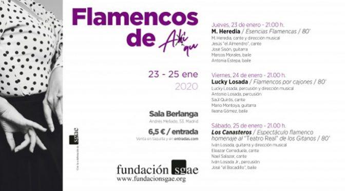 SGAE Foundation to Showcase Madrid Flamenco in January 2020