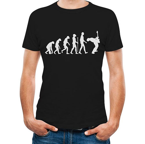 Guitar Player Evolution Funny T-Shirt Guitarist