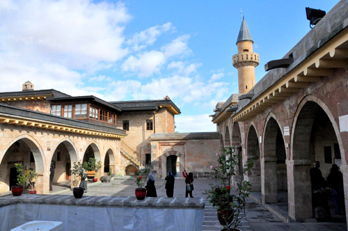 Hacibektas Shrine Courtyard — Photo by Evangeline Kim