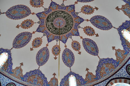 Hacibektas Shrine Ceiling — Photo by Evangeline Kim