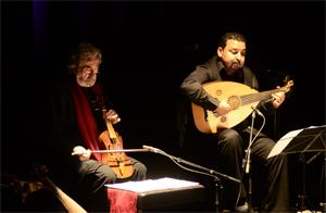Jordi_Saval and Driss el Maloumi at the Fira Mediterrania inaugural concert in Manresa © Genís Sáez / Aj. de Manresa