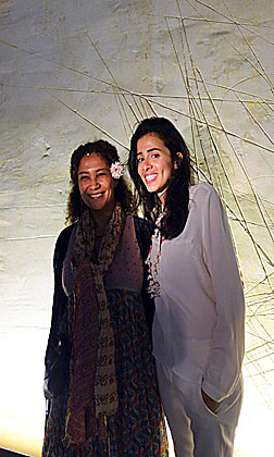 Lina Lazaar (right) with Ghalia Benali, Opening Night