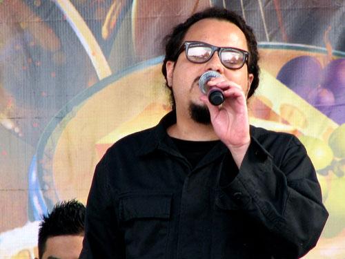 Locos Por Juana's vocalist Itagui in Durham, North Carolina, 2009 - Photo by Angel Romero