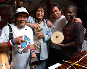 The members of the Global Drum Project in 2006 - Photo by John Werner