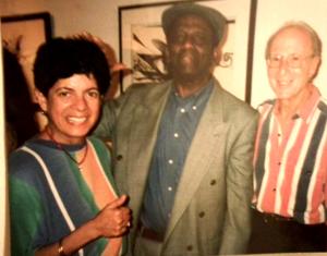 Maria Media-Serafin with Francisco Aguabella at the 2nd Festival of Jazz Latino in Miami, Florida.