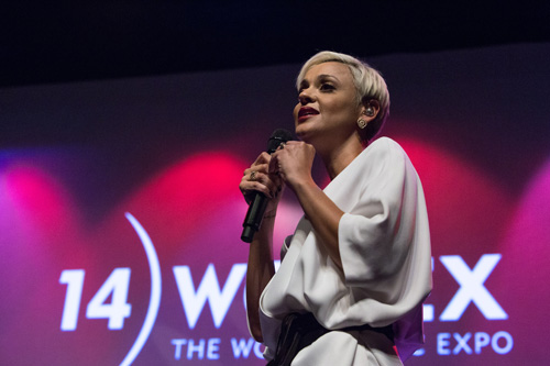 Portuguese fado star Mariza, recipient of the WOMEX 2014 Artist Award, performing at WOMEX 2014 Award Ceremony - Photo by Eric van Nieuwland