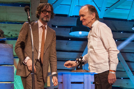 Martin Carthy & Jarvis Cocker at BBC Folk Music Awards 2014, Albert Hall