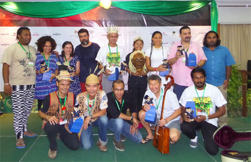 Artists at Day 1 press conference, Rainforest World Music Festival