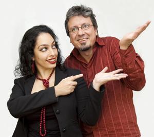 Araceli Tzigane and Juan Antonio Vazquez, producers of Mundofonias