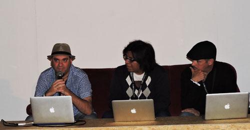 left to right Humphrey Inzillo, Gabriel Plaza and Enrique Blanc at EXIB 2016