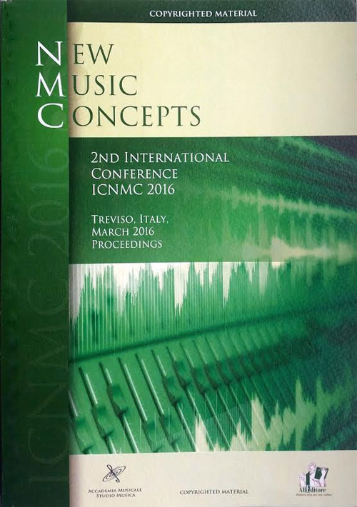New Music Concepts. 2nd International Conference ICNMC 2016