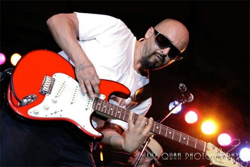 Ozomatli's guitarist, Raúl Pacheco