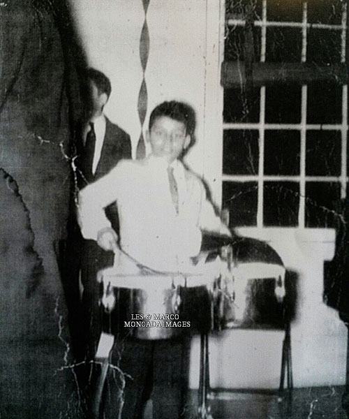 "Young Pablito Rosario: ""My very first gig with Ricardo Ray and his brother Raymond Maldonado, March 17, 1959 (St. Patrick's Day Party at Colony House Community Center, 197 Dean St., Brooklyn NY). Julio Simon brought me to the gig. I was playing ""How High Is The Moon"" with brushes on timbales. Got paid $3.00."""