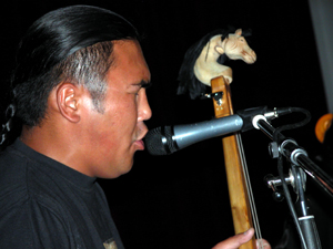Radik Tulush playing igil fiddle