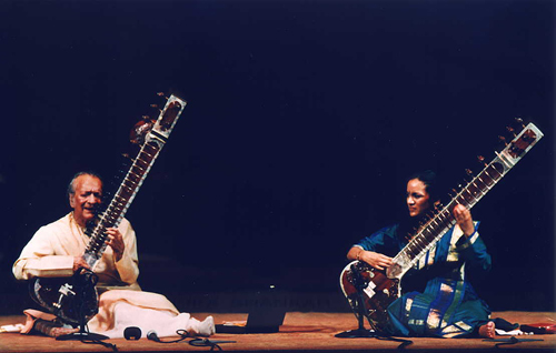Ravi Shankar with daughter Anoushka