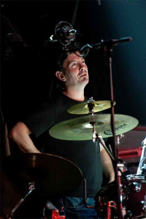 Drummer James Mackintosh (Shooglenifty)