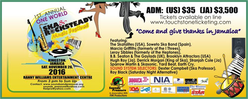 Kingston to Celebrate First Ska & Rocksteady Music Festival